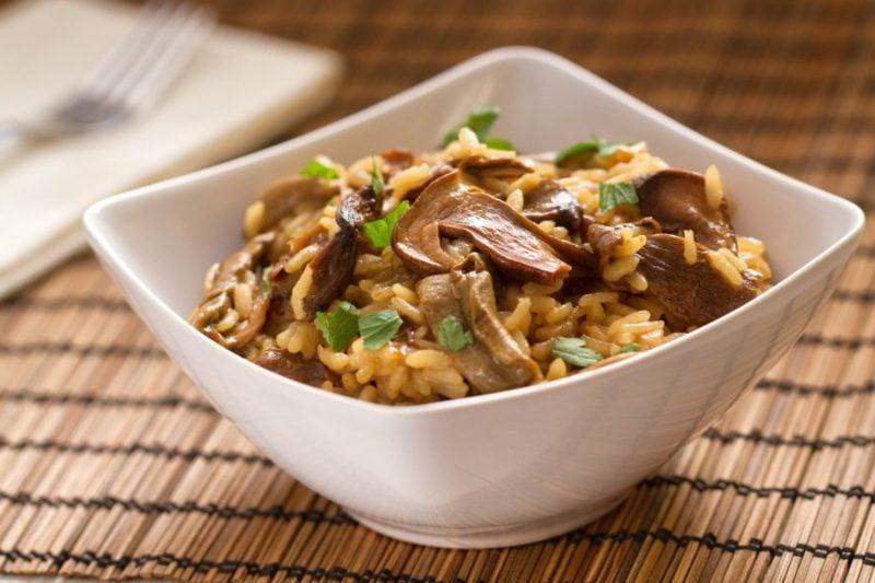 Reisgerichte vegetarisch Risotto mit Steinpilzen