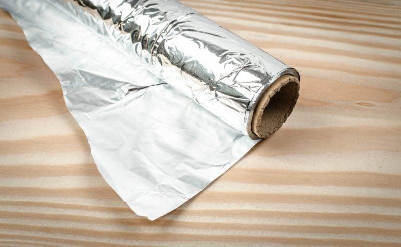 Silber sauber machen mit Alufolie