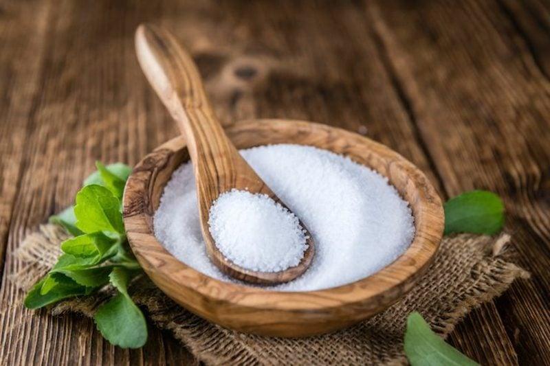 Stevia Pulver Ersatz für Zucker