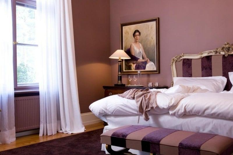 Altrosa Wand Schlafzimmer Barock Stil