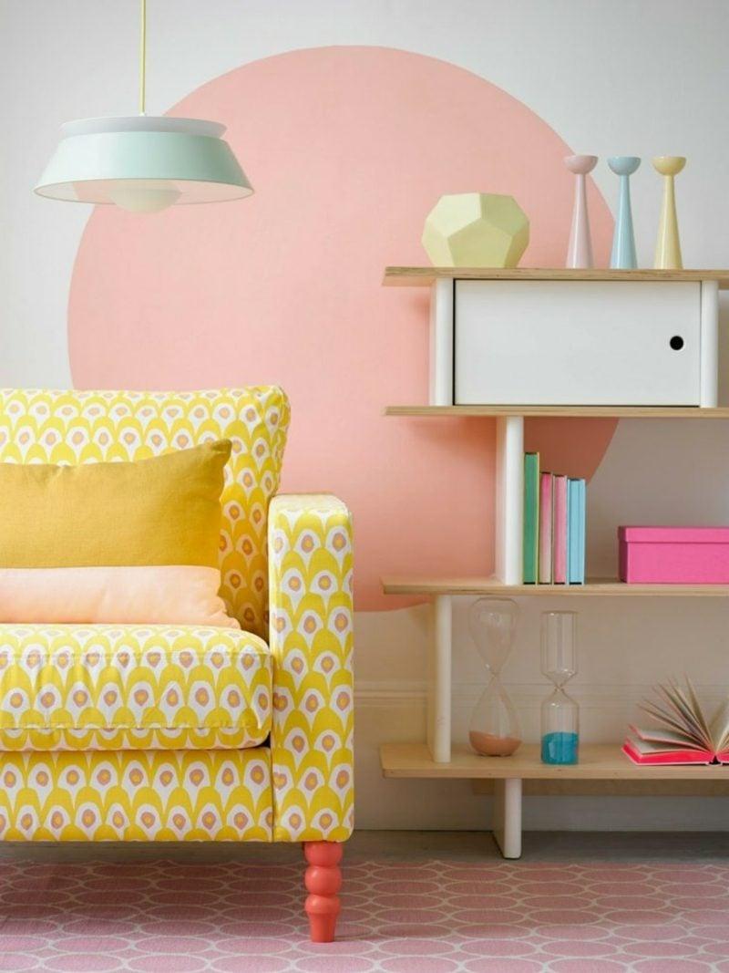 Wohnzimmer Farbakzente Altrosa herrlicher Look