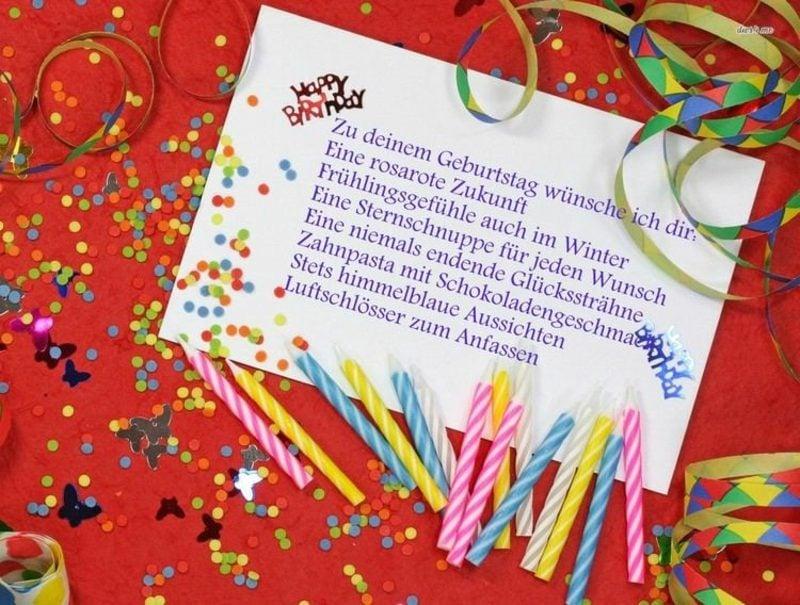 Zitate zum Geburtstag lustig Grusskarte