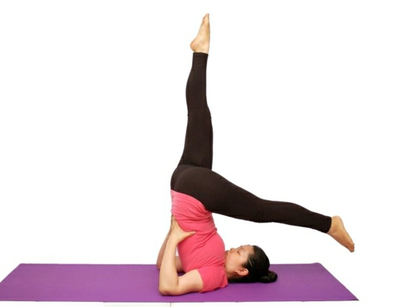 übungen für den bauch yoga machen pose die kerze
