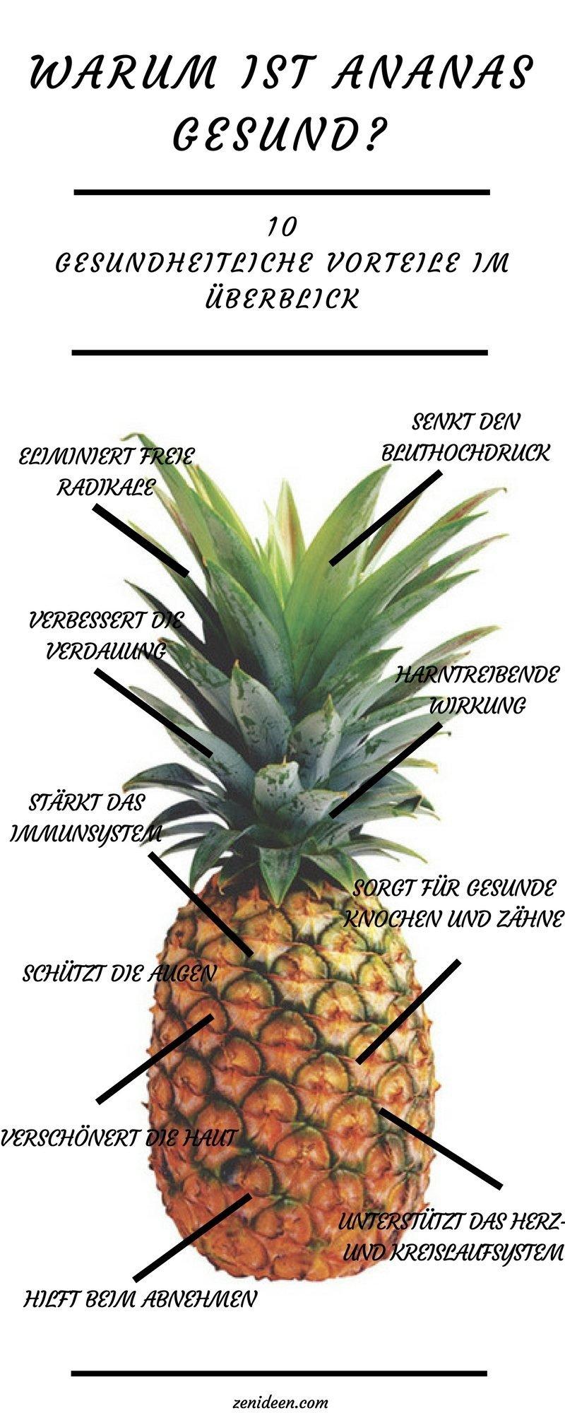 ananas gesund ananas nährwerte ananas gesundheitliche vorteile