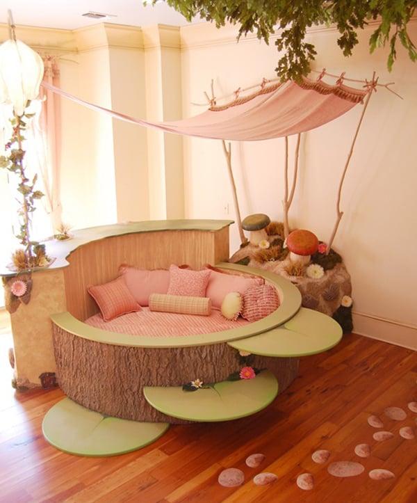 kinderzimmer ideen bett kinderzimmer einrichten rosa wandfarbe
