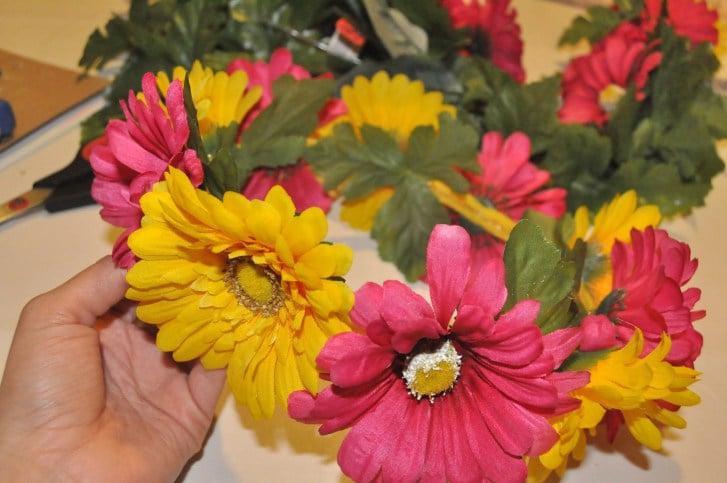 DIY Anleitung für Gerbera Blumenkranz