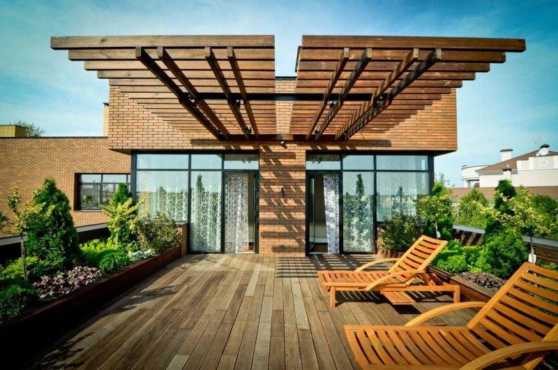 dachterrasse gestalten ideen tipps dachgarten anlegen möbel