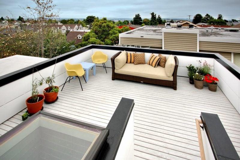 dachterrasse gestalten ideen tipps terrassenmöbel dekoration