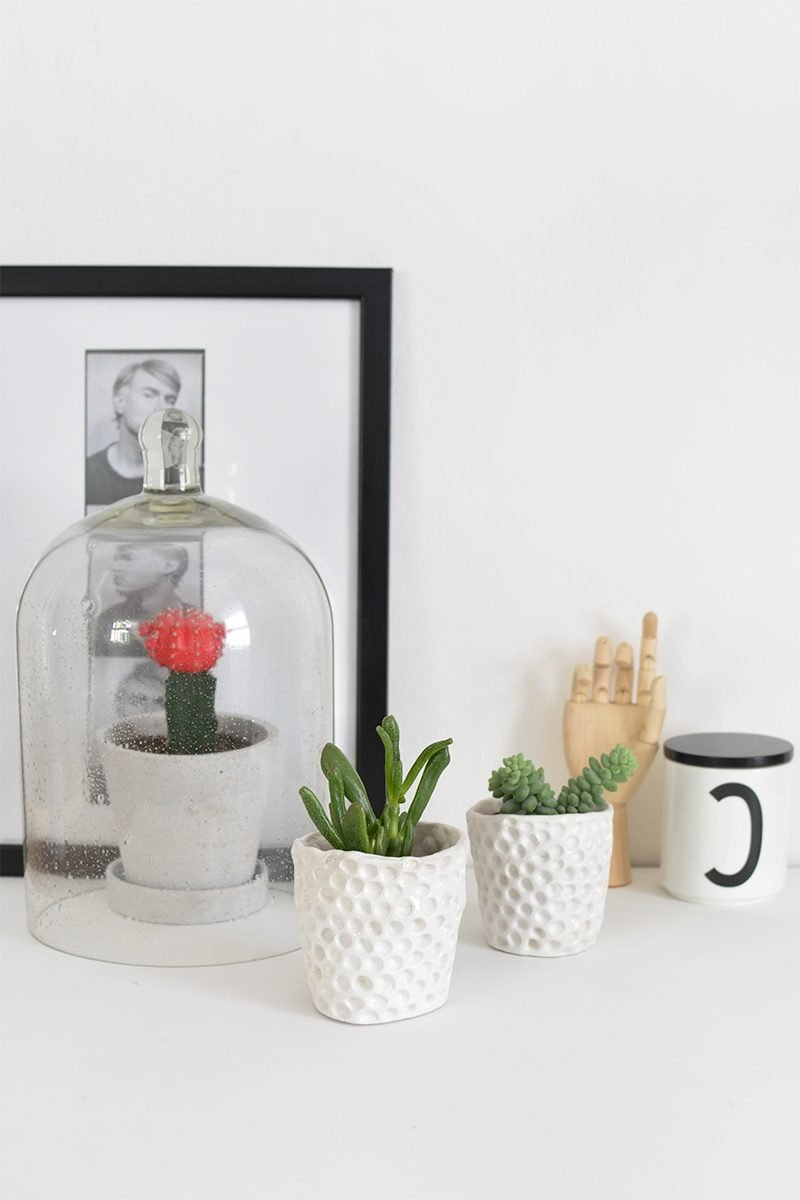 Und noch eine letzte Anleitung von uns: Moderne DIY Blumentöpfe selber machen