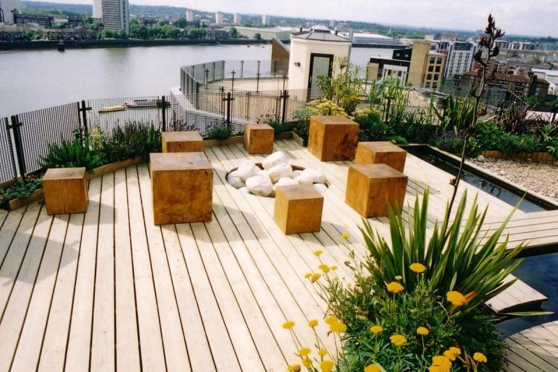 dachterrasse gestalten ideen tipps dekoideen dach abdichten pflanzen