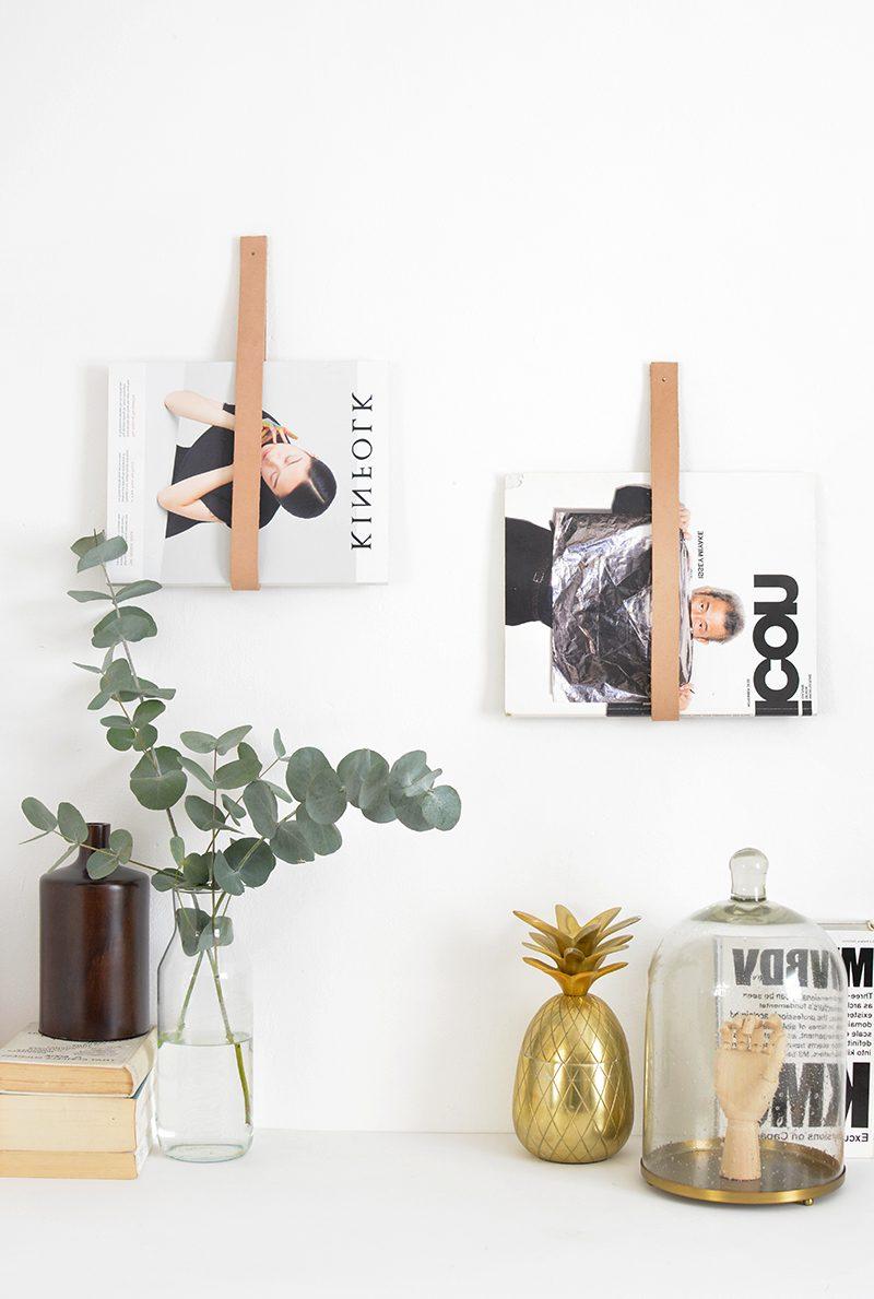 Wohnzimmer Wand: DIY Zeitschriftenhändler für die Wand