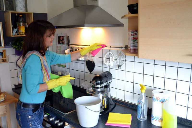 Fettflecken entfernen Küche Wand