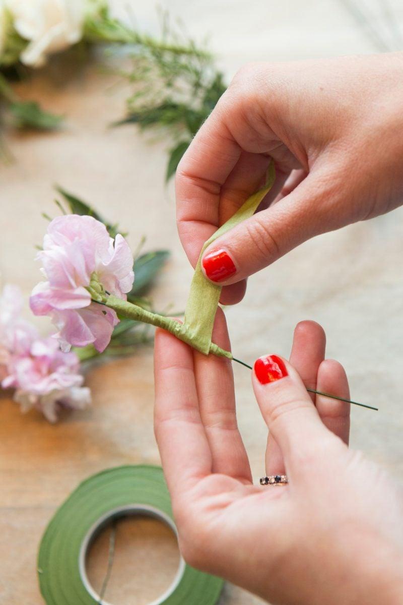 Blumen Binden Blumenkranz selber machen