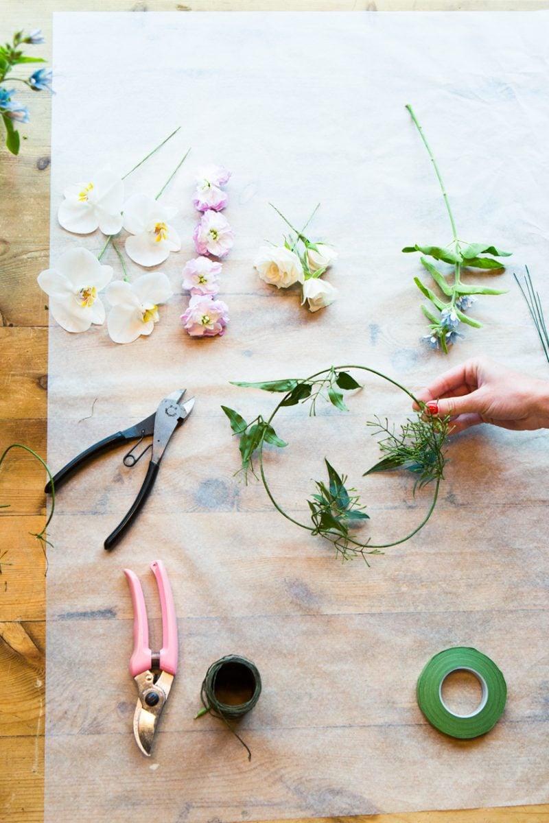 Blumen Binden Blumenkranz Anleitung