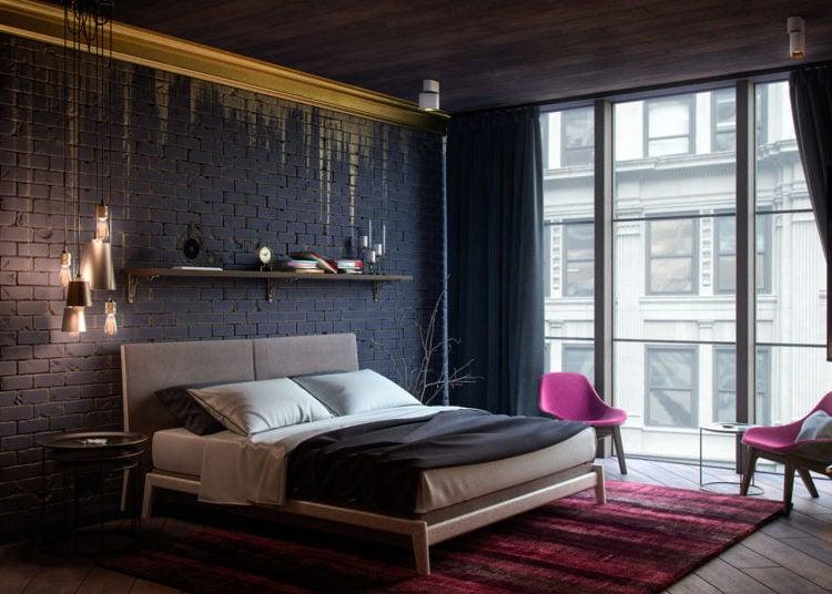 Wandgestaltung Schlafzimmer Ideen - 40 coole Wandfarben ...