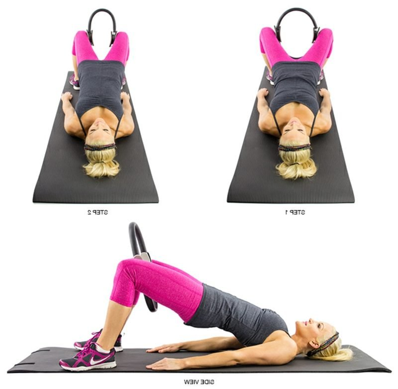 Pilates trainieren Übungen mit Ring Beine