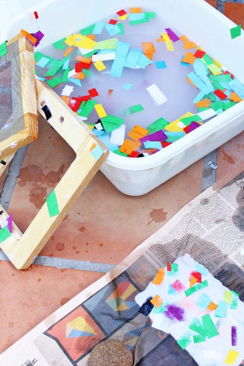 Kindergarten Ideen - Papier selber machen