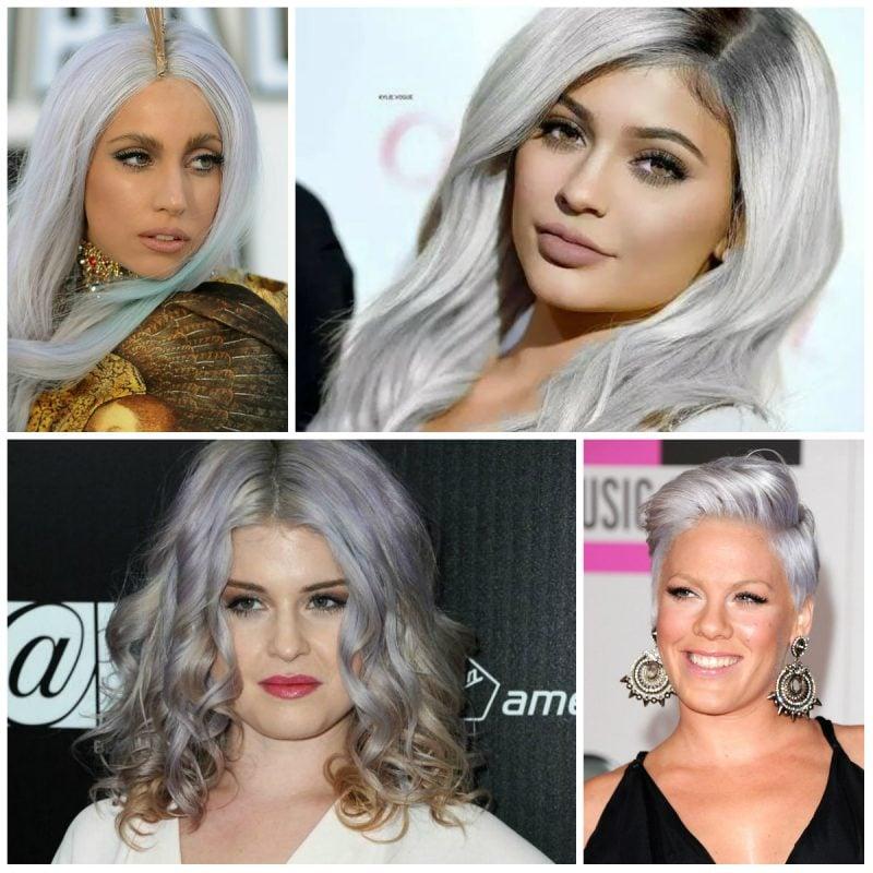 Graue Haare von Prominenten