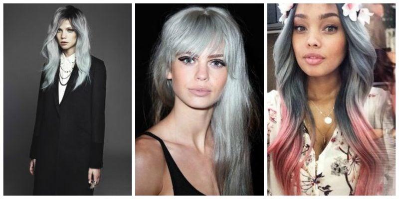 Graue Haare: Kombinieren Sie Grautöne mit Pink Haare