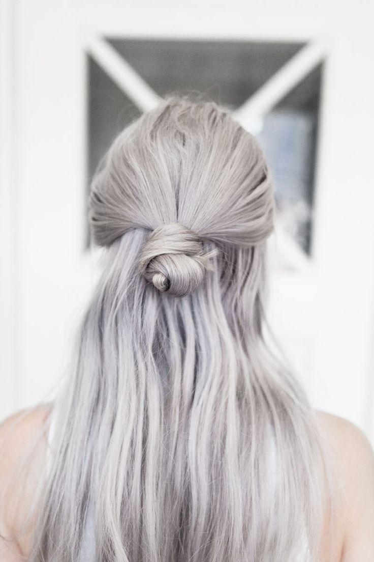 Grautöne in Haaren Granny Hair