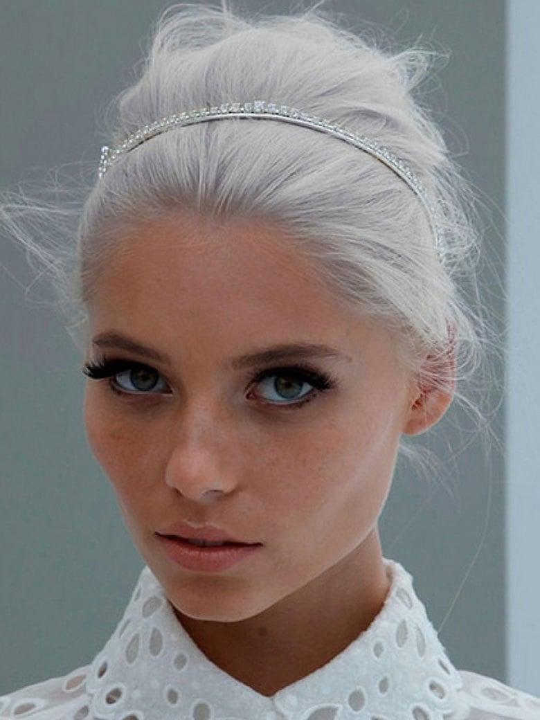 Grautöne für blonde Haare