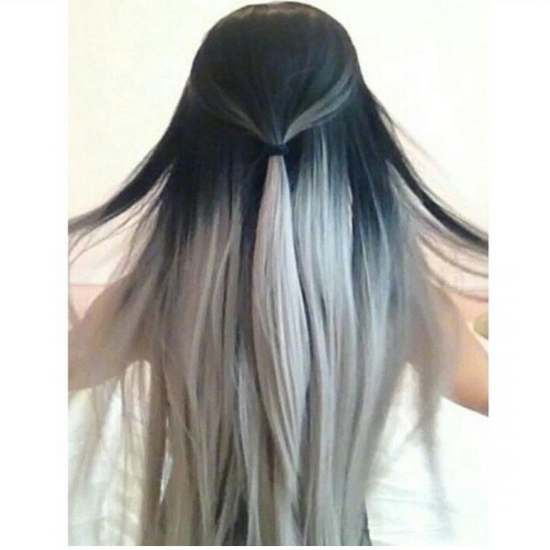 Grautöne - Ombré grau Haar