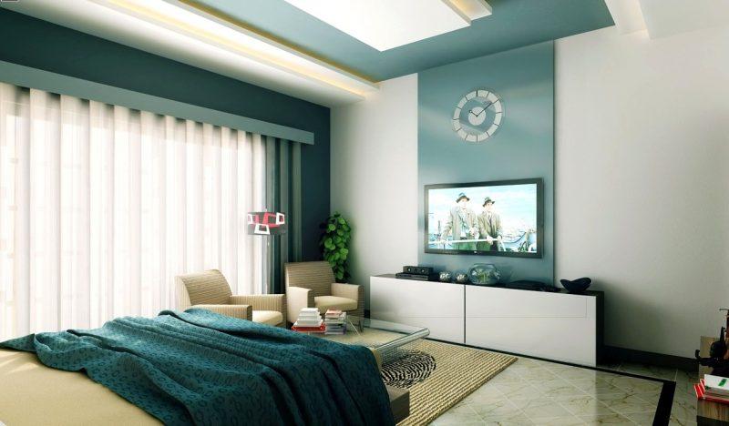 wandgestaltung schlafzimmer ideen grün wandfarben