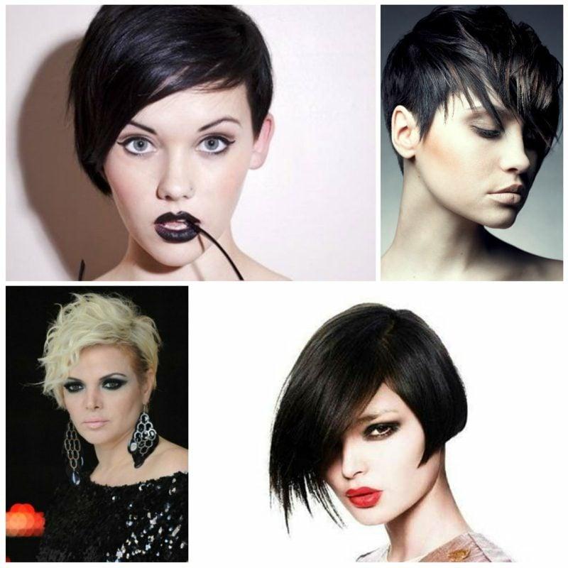 damenfrisuren undercut asymmetrische kurze haare