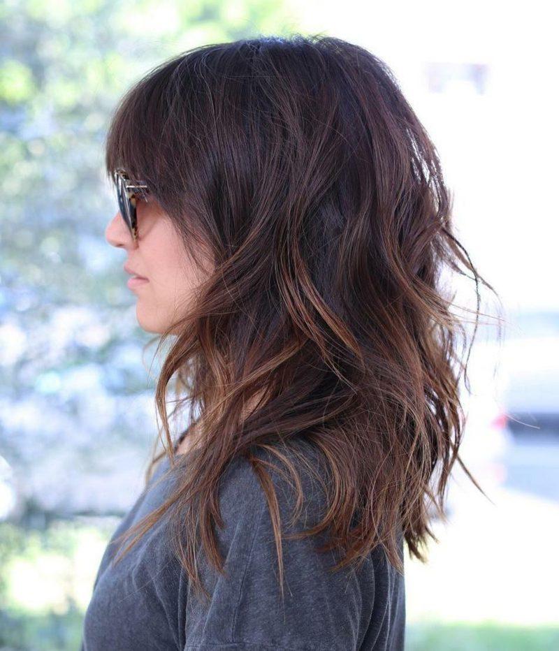 schulterlanger haarschnitt stufen frisur