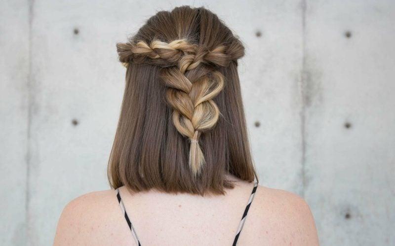 zopffrisur für schulterlange haare