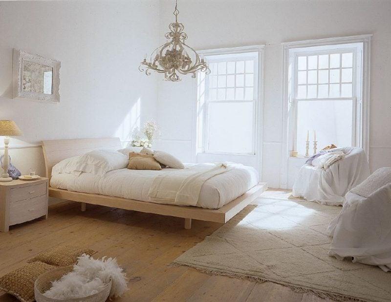 wandgestaltung schlafzimmer ideen kleine räume weiß