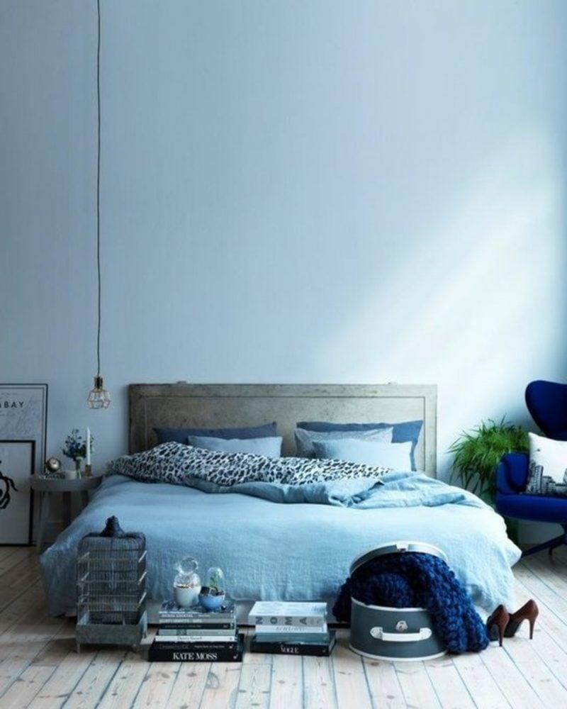 wandgestaltung schlafzimmer ideen blau einrichtungsideen