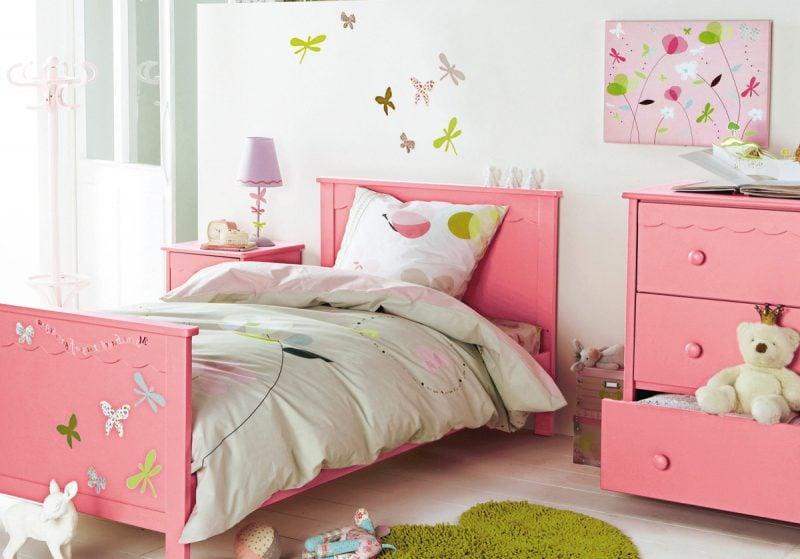 kinderzimmer ideen kinderbett rosa mädchen kinderzimmer gestalten