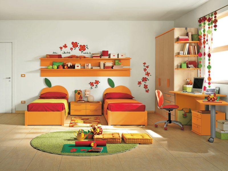 kinderzimmer ideen kinderbett teppich möbel farbgestaltung kinderzimmer einrichten