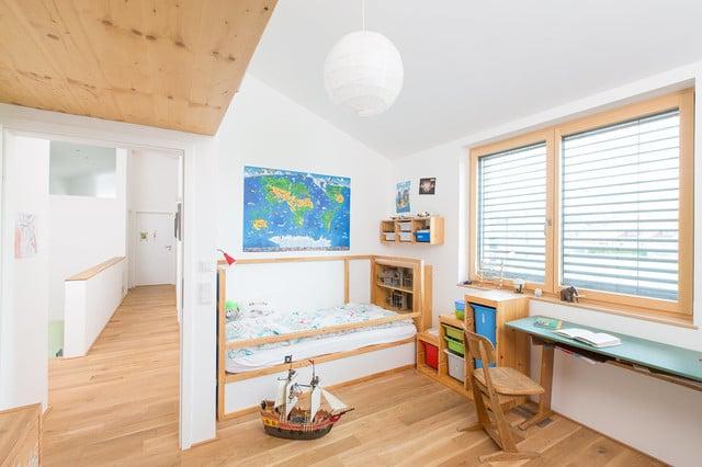 kinderzimmer ideen bett holz weiß wandgestaltung kinderzimmer skandinavisch einrichten