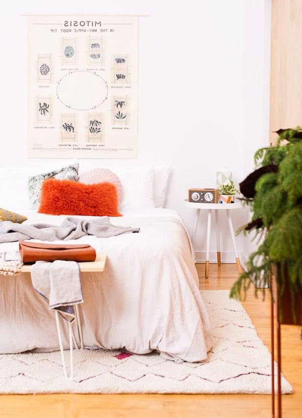 wandgestaltung schlafzimmer ideen helle wandfarben wohnaccessoires