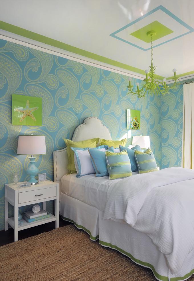 wandgestaltung schlafzimmer ideen frische wohnideen blau grün