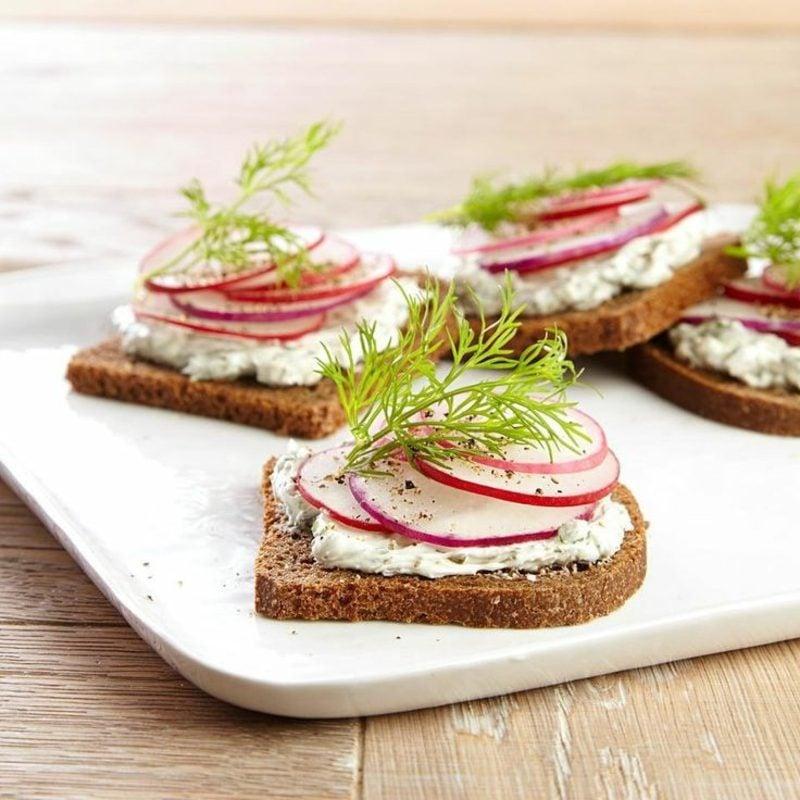 Radieschen Nährwerte Inhaltsstoffe leckere Sandwiches zubereiten