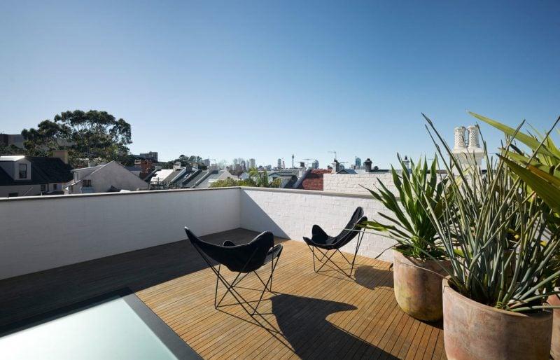 dachterrasse gestalten ideen tipps terrassenmöbel stuhl