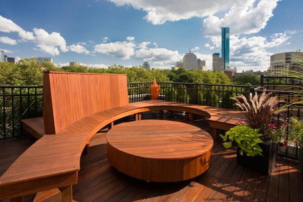 dachterrasse gestalten ideen tipps terrassenmöbel holz