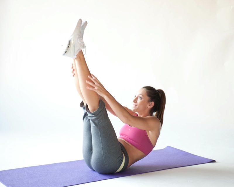 Übungen zum Abnehmen Pilates Beine