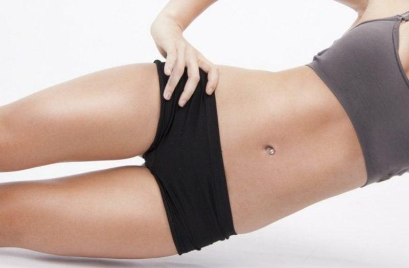 Flacher Bauch Übungen Yoga gesundes Essen