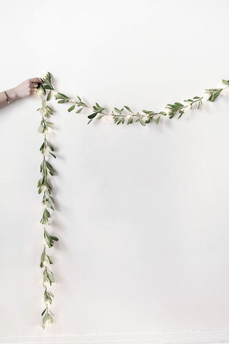 Wohnideen Wohnzimmer: DIY Girlande im minimalistischen Stil