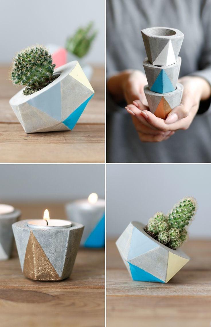 Minimalistische Vasen aus Beton
