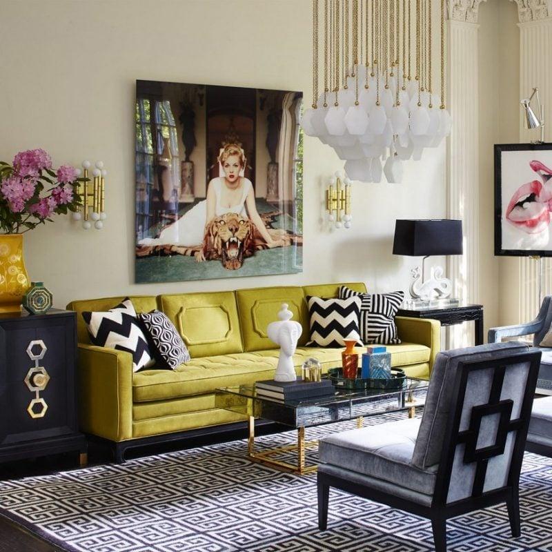 Kleines Wohnzimmer einrichten und dekorieren: Wanddeko hat große Wirkung!