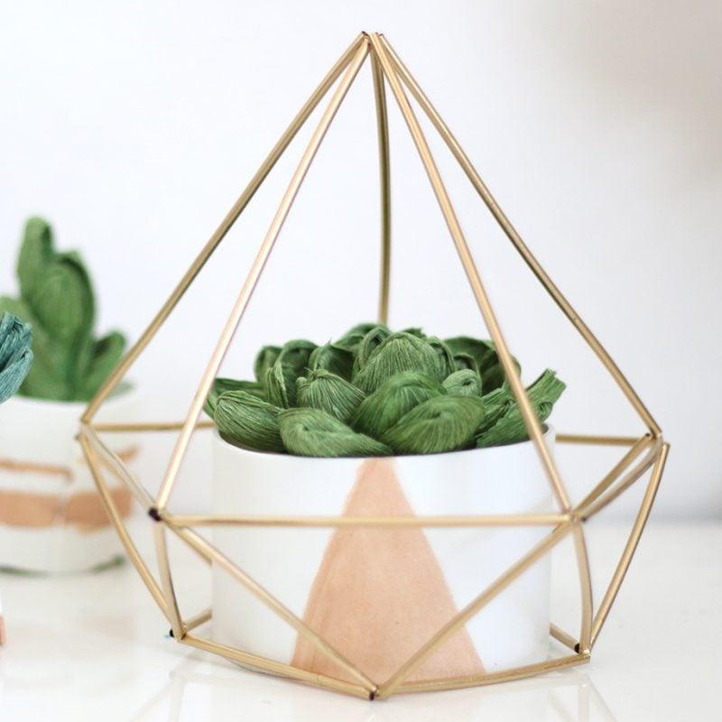 53 minimalistische diy deko ideen f r moderne wohnzimmer for Geometrische deko