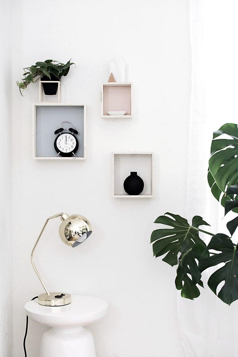 53 minimalistische diy deko ideen f r moderne wohnzimmer for Moderne wandregale wohnzimmer