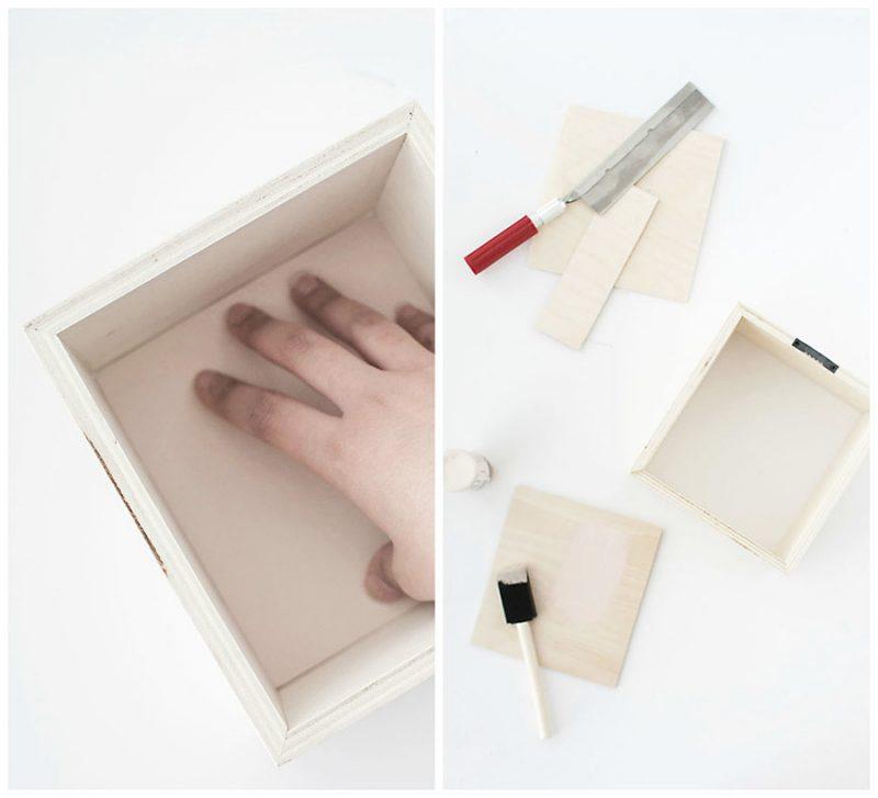 Dekoration Wohnzimmer: DIY Wandregale statt Bilder für Wohnzimmer