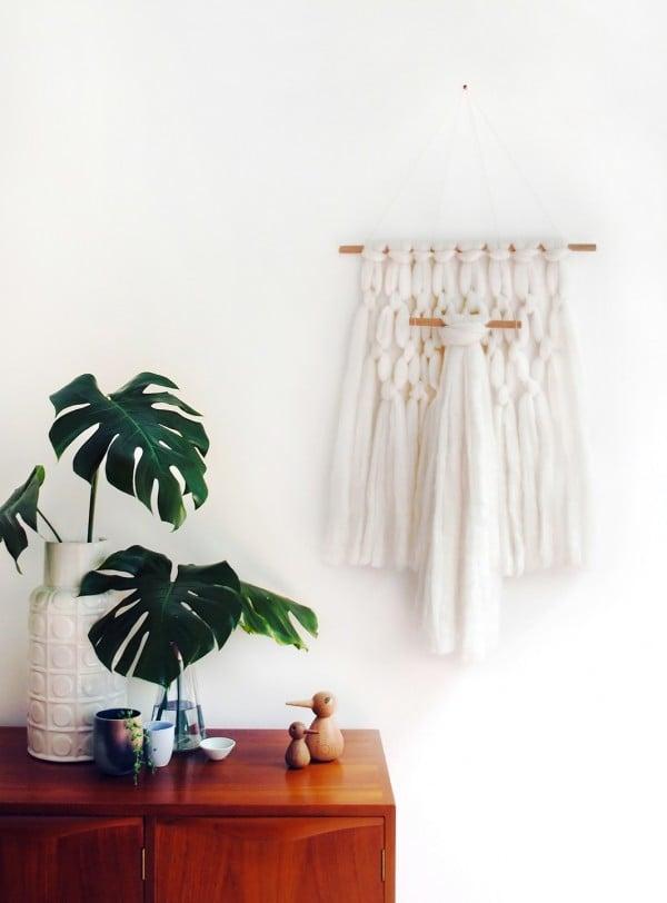 DIY Dekoideen für moderne Wohnzimmer: Wandteppich selber machen