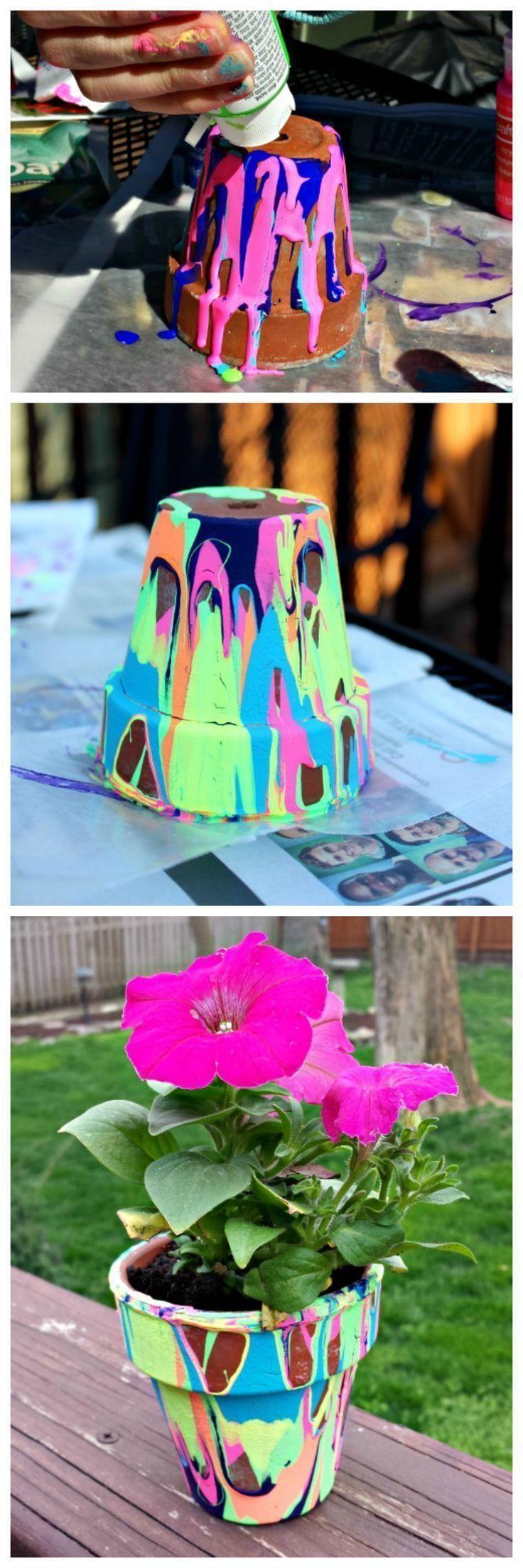 Muttertagsgeschenke basteln: Blumentopf selber machen